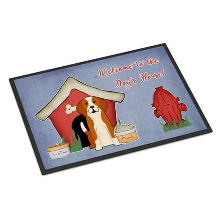 Carolines Treasures BB2864JMAT Dog House Collection English Foxhound Indoor or Outdoor Mat, 24 x 0.25 x 36 in. - image 1 of 1