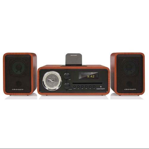 Crosley Radio Audiophile Shelf System Radio in Paprika