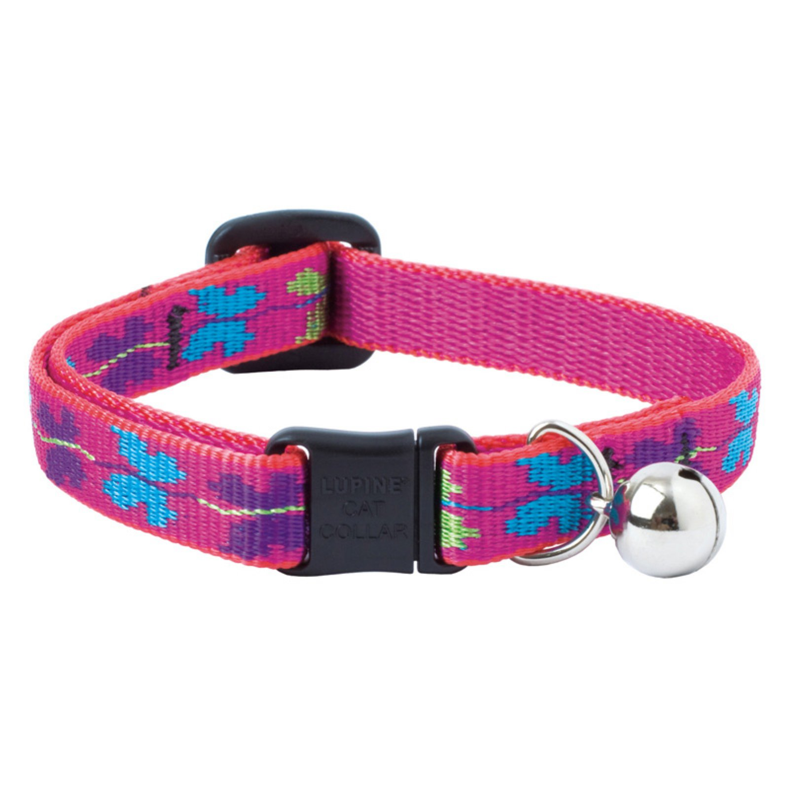 Lupine Collars and Leads Wing It Butterfly Pink Bell Cat Collar