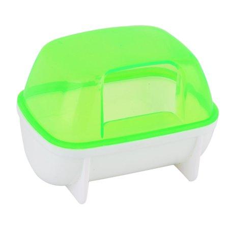 Unique Bargains Home Pet Plastic Gerbil Dual Hole Bath Bathing House Sand Cage Hamster