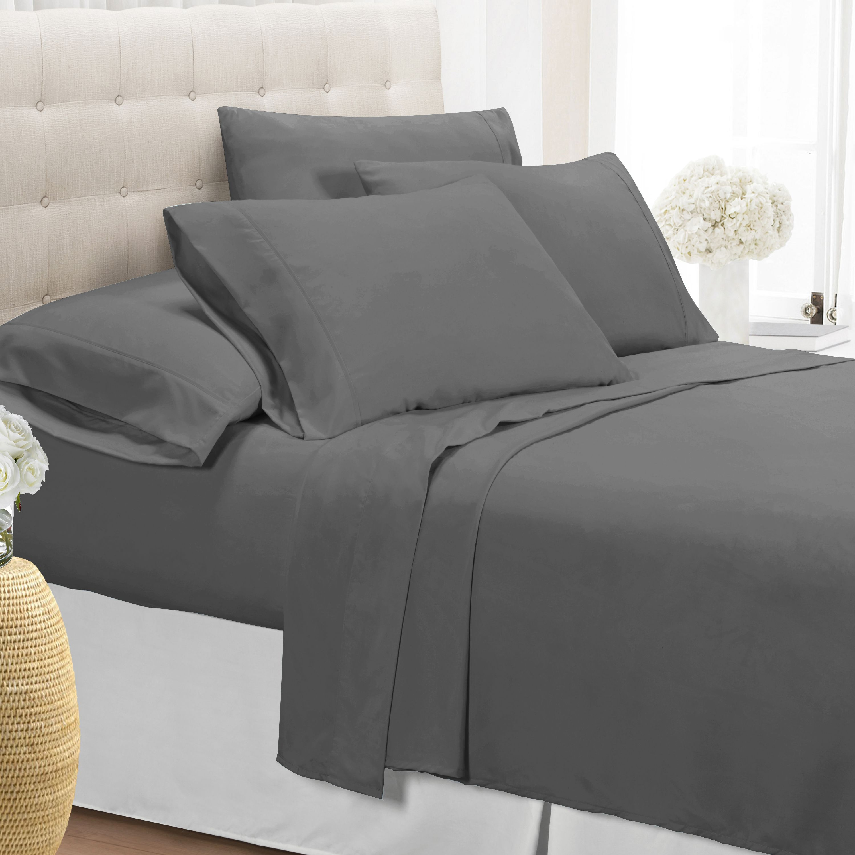 Ultra-Soft 1800 Series Wrinkle Free 6PC Sheet Set