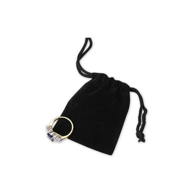 Bags & Bows by Deluxe B954-39 Black Velvet Pouches - Case of 100