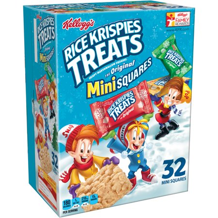 Kellogg's Rice Krispies Treats Crispy Marshmallow Mini-Squares,0.38 oz, 32 ct