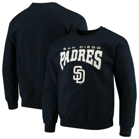 San Diego Padres Stitches Pullover Crew Neck Sweatshirt - Navy ()