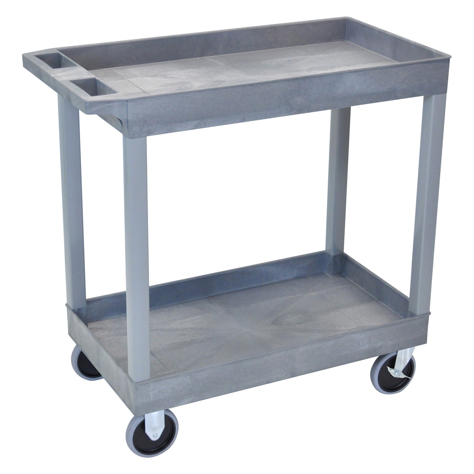 Luxor Heavy-Duty 2-Shelf Tub Cart