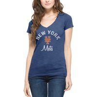New York Mets '47 Women's Scrum V-Neck T-Shirt - Royal