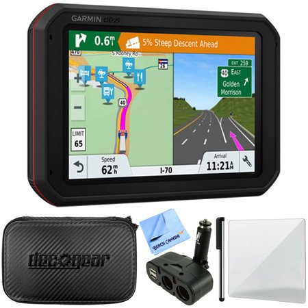 (Garmin dezlCam 785 LMT-S GPS Truck Navigator with Built-in Dash Cam (010-01856-00) + Hard EVA Case w/ Zipper + Dual DC12V/24V Electronic Multi-functions Car Socket + Stylus Pen + Micro Fiber Cloth +)