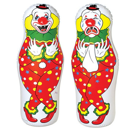 Inflatable Punching Clown Bopper Bop Bag 44 Toy Bozo Kids Large Fun