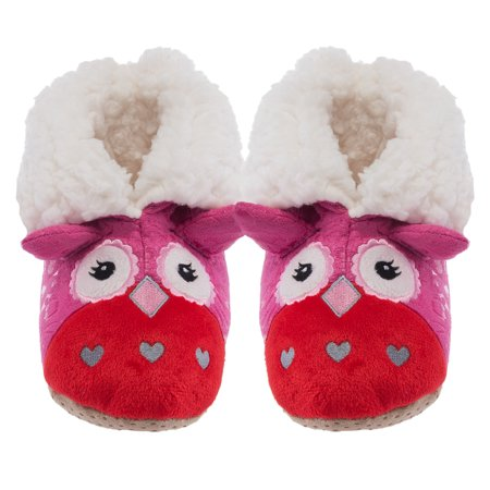 Yelete Plush Kids 3D Animal Slippers Cute Fuzzy Soft Sherpa Boots Toddlers Girls - Toddler Funny