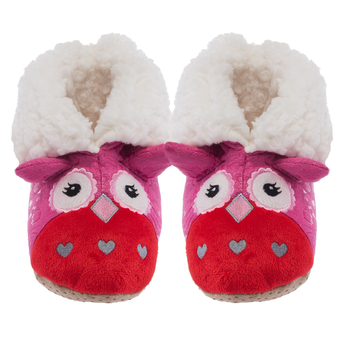 Yelete Plush Kids 3D Animal Slippers Cute Fuzzy Soft Sherpa Boots Toddlers Girls