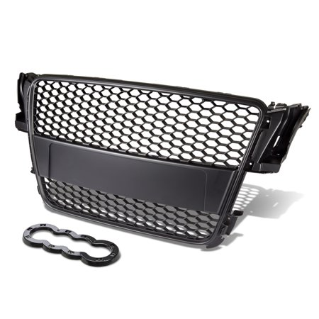For 2008 to 2011 Audi A5 / Quattro / S5 ABS Plastic Honeycomb Mesh Style Front Grille (Black) - Typ 8T AU484 09 10 ()