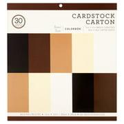 Colorbok Neutral Carton Cardstock Sheets, 30 Count