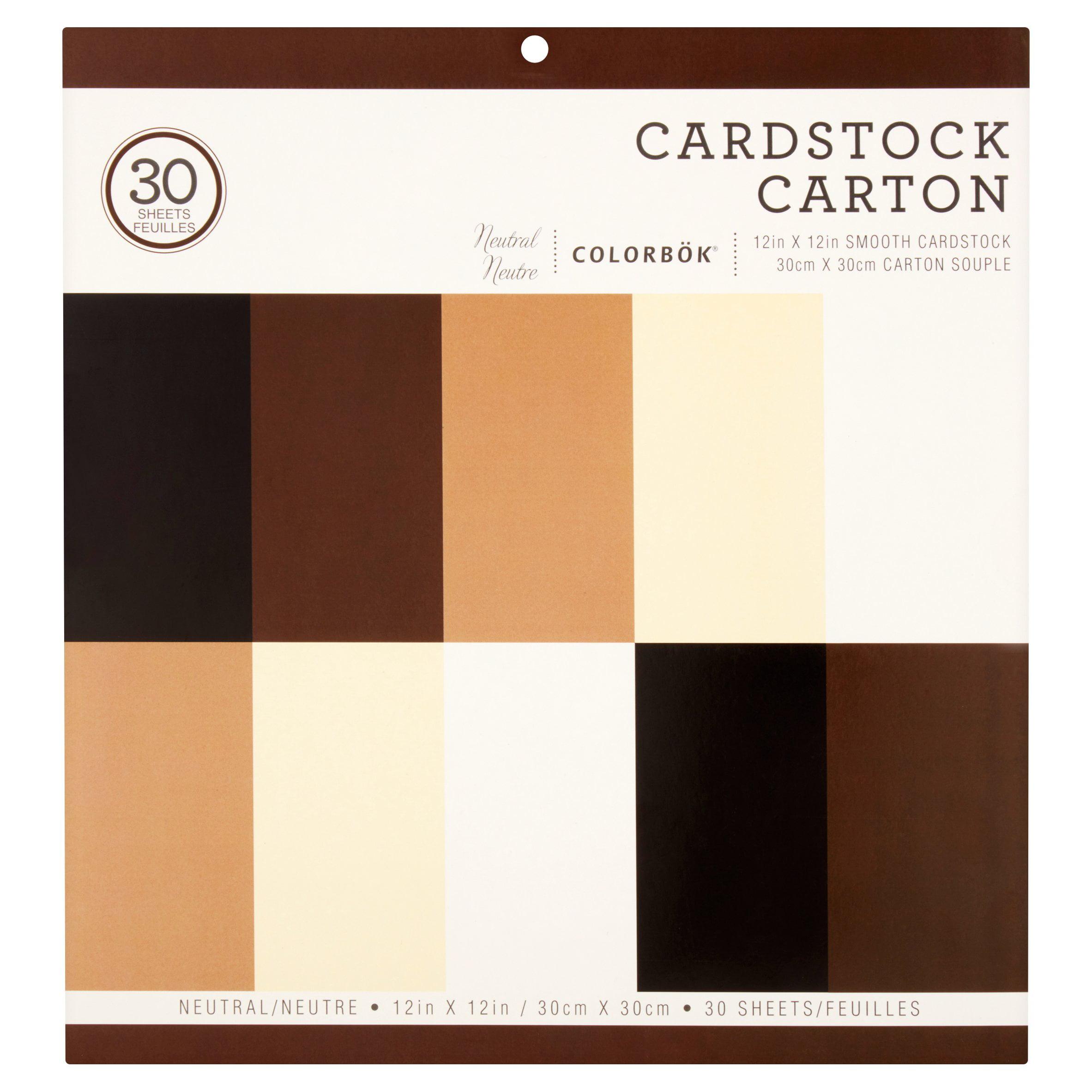 Colorbök Neutral Cardstock Carton Sheets, 30 count
