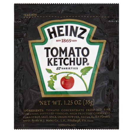 Ketchup Tomato, Single Serve Pouch, 1.25 Ounce - 100 Case