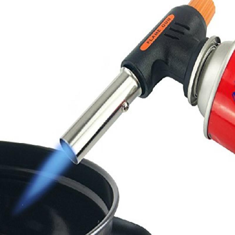 Portable Camping Welding Gas Torch Flame Gun Lighter Iron Electronic