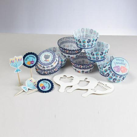 Hanukkah Themed Cupcake Decorating Set