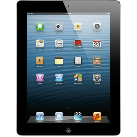 Apple iPad 4th Generation 16GB WiFi Tablet - Black (Refurbished) (Amazon Ipad 4th Generation)