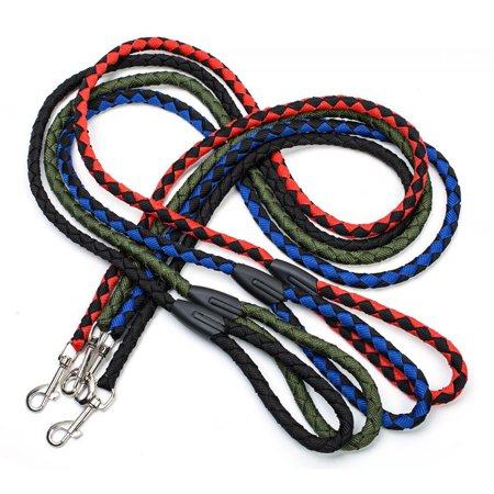 Nylon Dog Leash 5ft Long Walking Dog Rope Metal Clasp Dog Chain Traction Rope for Medium Dog Training Walking Outside - image 4 de 7