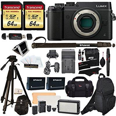 Panasonic DMC-GX8KBODY LUMIX GX8 Interchangeable Lens DSLM Camera Body Only + 2 Transcend 64 GB High Speed... by Ritz Camera