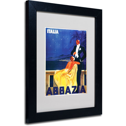 Trademark Fine Art 'Italia Abbazia' Framed Matted Art