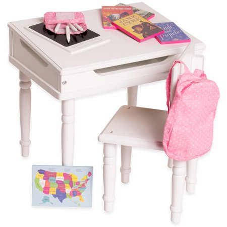 Eimmie 18 Inch Doll Furniture Desk Chair With Classroom Accessories
