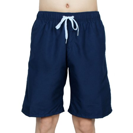 Chetstyle Authorized Adult Men Summer Swimming Shorts Swim Trunks Navy Blue W