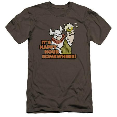Hagar The Horrible Happy Hour Mens Premium Slim Fit Shirt