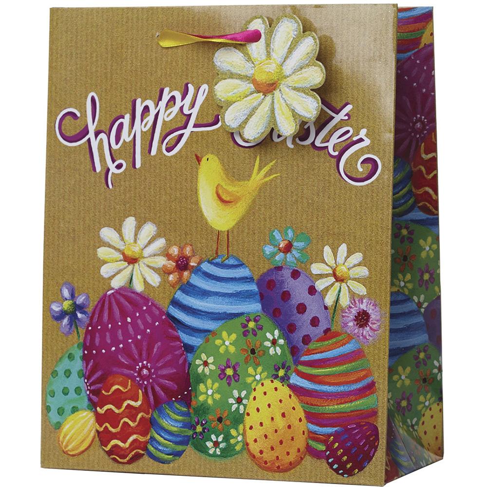 Jillson & Roberts Medium Gift Bags, Happy Easter (12 Pcs)