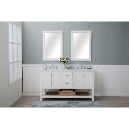 Cabinet Mania White Shaker 48 Quot Bathroom Vanity 2 Drawers 2
