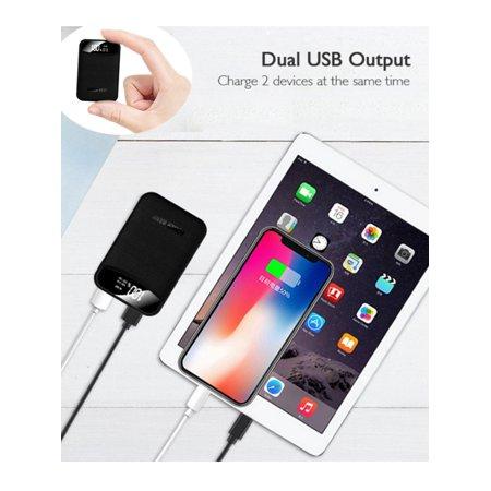Maraso 10000mAh Mini Power Bank Dual USB Charger Type-C Micro Input Portable Power Pack (Portable Usb Power Pack)