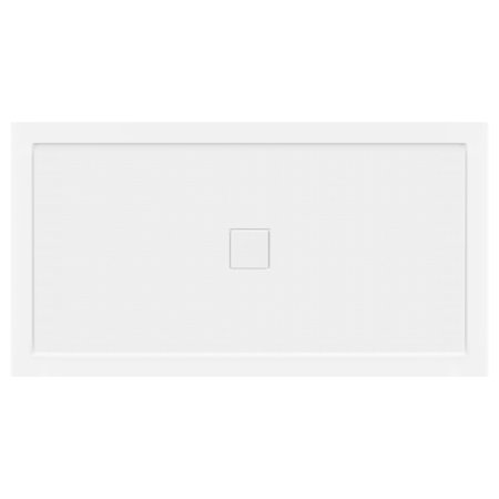 - LessCare 60 x 32 Right Double Threshold Shower Pan Base Wall Corner Center Drain