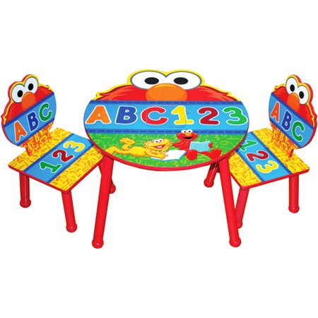 Sesame Street Elmo Table And Chair Set With Storage
