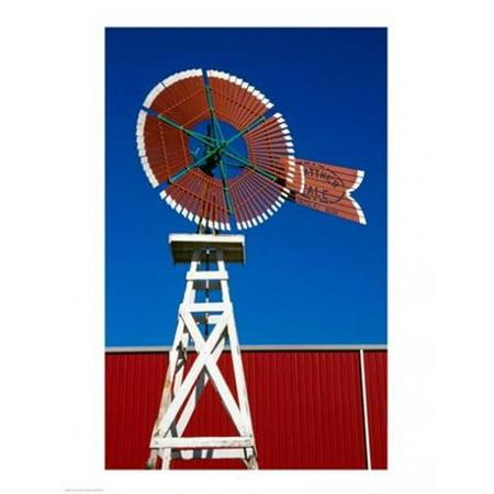 PVT / Superstock SAL1486817 Faible angle de vue d'un moulin - vent, American Center -olienne, Lubbock, Texas, -tats-Unis -18 x 24 - copie d'affiche - image 1 de 1