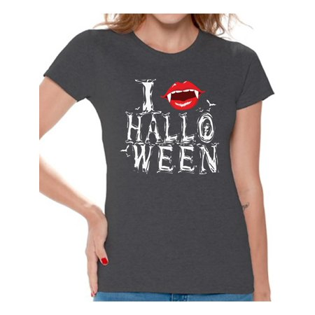 Awkward Styles Women's Halloween Graphic T-shirt Tops I Fangs Halloween Vampire - Vampire Clothing For Women