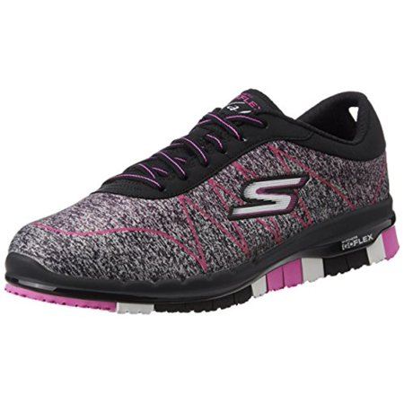 9d78f5c9e21d 14011 Black Pink Skechers Shoe Go Flex Walk Women Slipon segmented Flexible  Sole 14011BKHP - Walmart.com