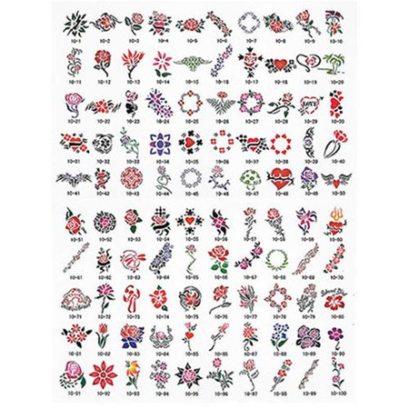 100 Designs Tattoo Stencil Book - Walmart.com