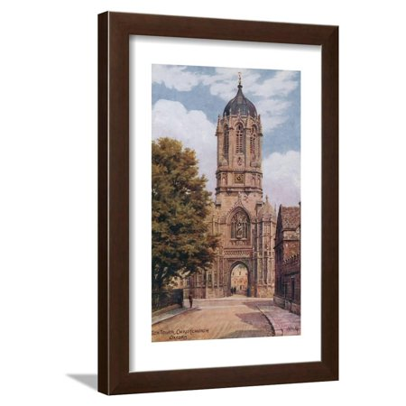Tom Tower, Christchurch, Oxford Framed Print Wall Art By Alfred Robert