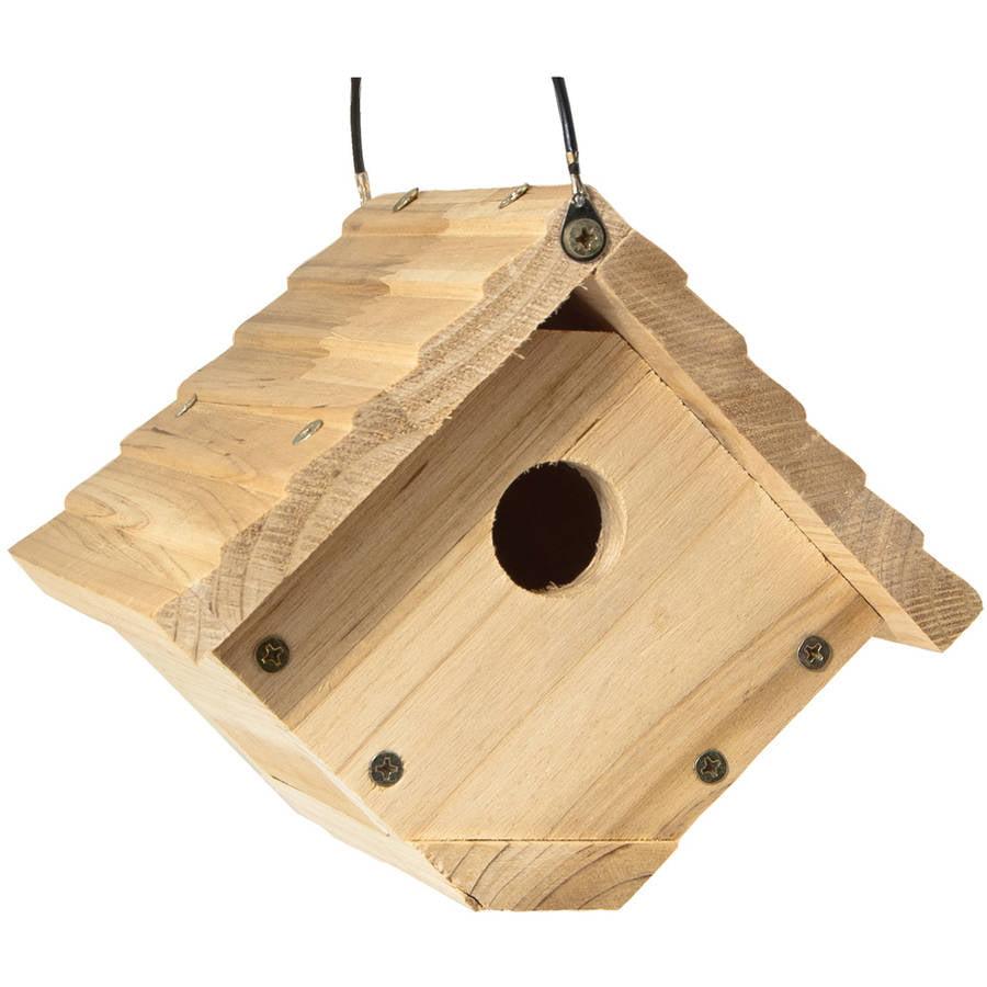 """Audubon NAWREN 6-1/2"""" W x 6"""" H Cedar Wren House"""