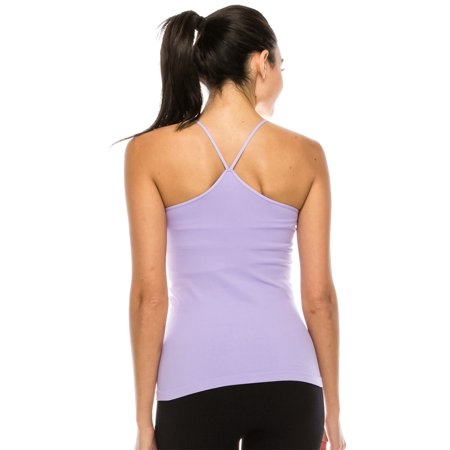 Kurve American Made Y-Back Spaghetti Strap Basic Cami, UV Protective Fabric UPF 50+ (Made with Love in The USA)