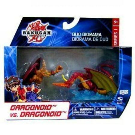 Bakugan Duo Diorama Series 1 Gargonoid vs. Dragonoid Mini Figure -
