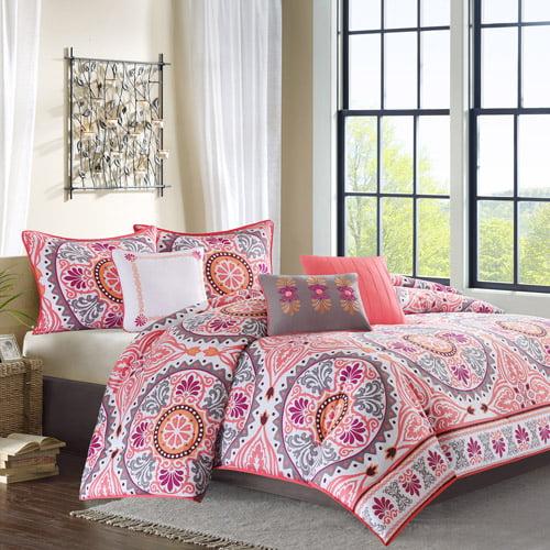 Madison Park Samara 7 Piece Comforter Set - Pink - Cal.King