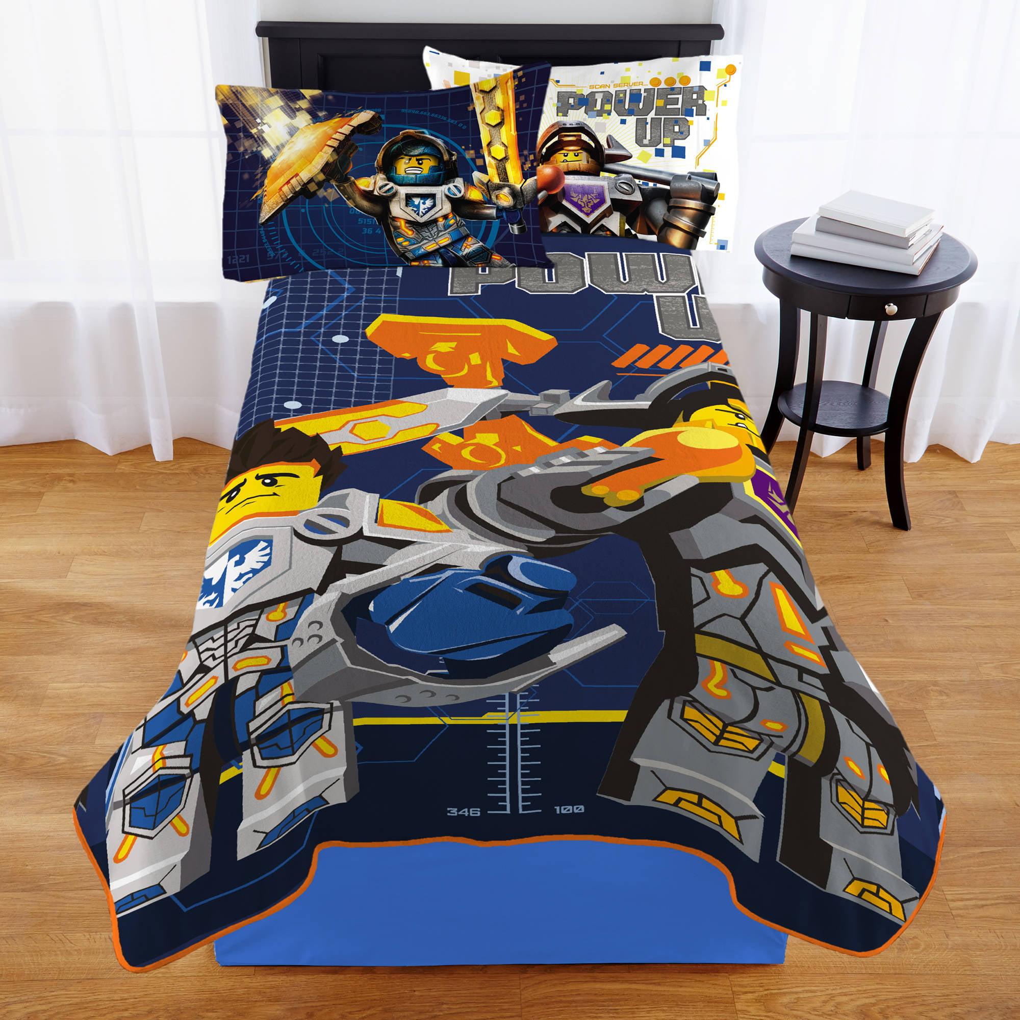 Lego Nexo Knight 'Heroic' Plush Blanket - Walmart.com