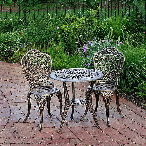 Mississippi 3-Piece Outdoor Bistro Set, Seats 2