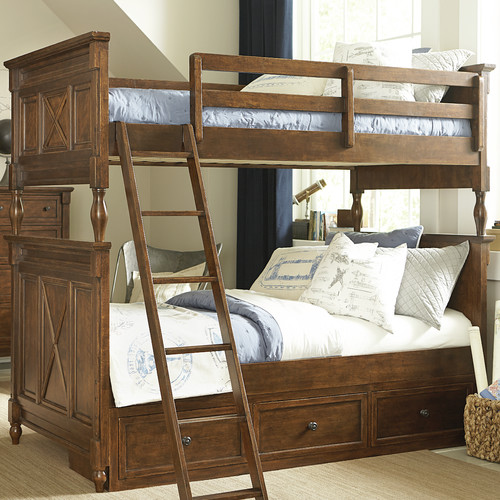 LC Kids Big Sur By Wendy Bellissimo Twin Futon Bunk Bed