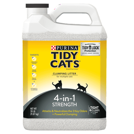 Purina Tidy Cats 4-in-1 Strength Clumping Cat Litter, 20-lb Jug