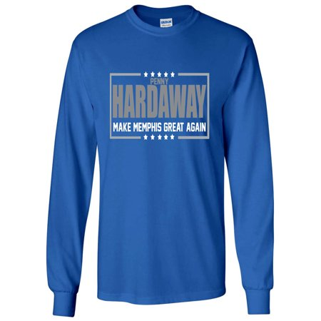 LONG SLEEVE BLUE Penny Hardaway Memphis Tigers 2018 T-Shirt - Tiger Outfits For Adults