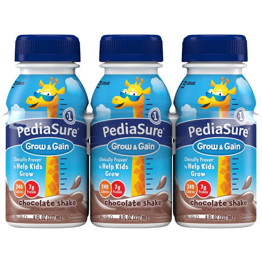 PediaSure Grow & Gain Chocolate Shakes, 8 fl oz, 6 count