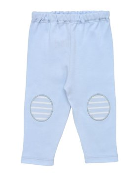 Baby Organic Cotton Pale Blue Legging with Oval Knee Patches