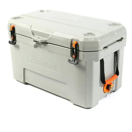 roto molded cooler. ozark trail 52-quart high-performance cooler, grey roto molded cooler
