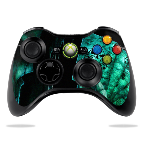 Protective Vinyl Skin Decal Cover for Microsoft Xbox 360 Controller wrap sticker skins Death